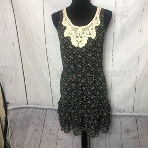 Anthropologie Fei Dress Size XS Black Floral